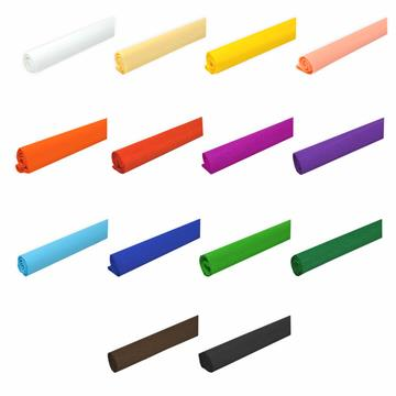 14er Set Krepppapier bunte Farben 50 x 250 cm ca. 31 g/m²