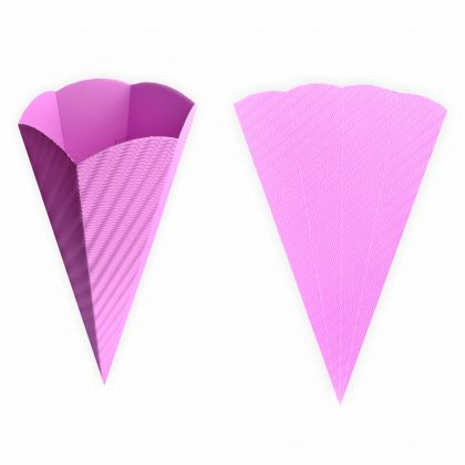 Schultüten rosa aus 3D Wellpappe 68cm 5 Stück - Zuckertüte als Rohling zum basteln, bemalen und bekleben