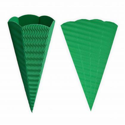 Schultüte grün aus 3D Wellpappe 68cm 1 Stück - Zuckertüte als Rohling zum basteln, bemalen und bekleben