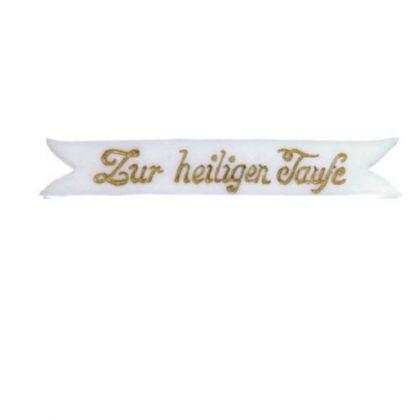 Schriftbänder Zur hl.Taufe gold 55 x 9 m