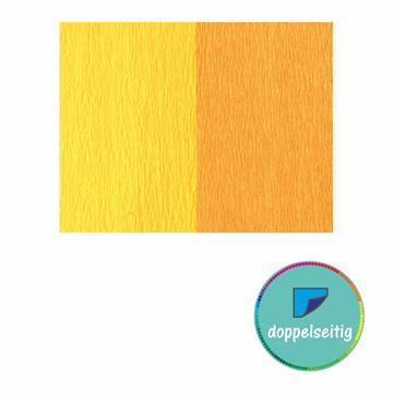Doppelseitiges Krepppapier gelb - goldgelb 2 Stück 25 x 125 cm
