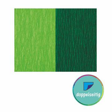 Doppelseitiges Krepppapier hellgrün - grün 2 Stück 25 x 125 cm