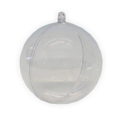 Acryl Kugel teilbar 100 mm transparent
