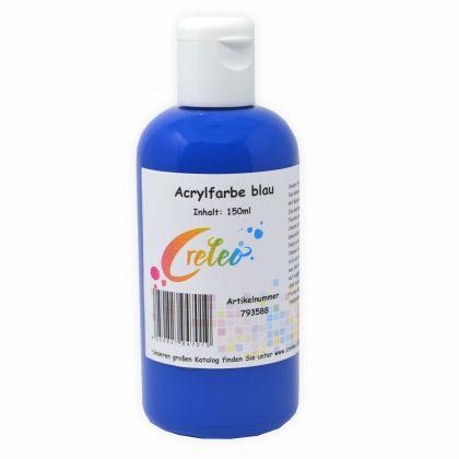 Acrylfarbe blau hochwertige Malfarbe in einer 150 ml Flasche