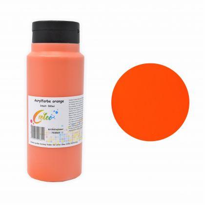 Acrylfarbe orange hochwertige Malfarbe in einer 500 ml Flasche