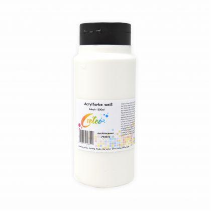 Acrylfarbe weiß hochwertige Malfarbe in einer 500 ml Flasche