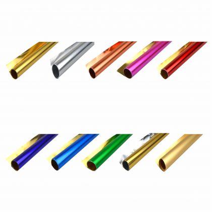 Alufolie gemischte Farben 10 Farben a 50x70 cm