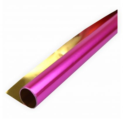 Alufolie gold/rosa doppelseitig kaschiert 50x70cm