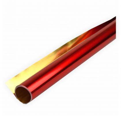 Alufolie rot/gold doppelseitig kaschiert 50x70 cm