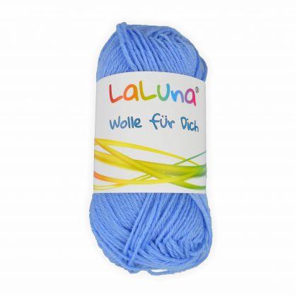 Babywolle uni blau 25g - 100 Meter 70% Merino 30% Milchfaser Handstrickgarn, weiche Wolle zum Stricken und Häkeln