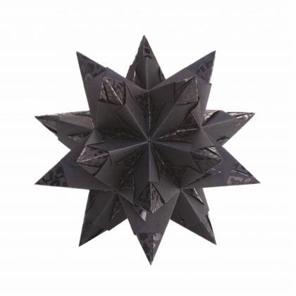 Creleo - Bascetta Stern Bastelset 19,5x19,5cm 32 Blatt schwarz ELEGANCE WILDLIFE