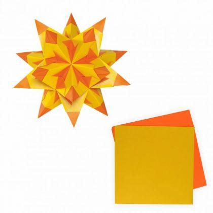 Bascetta-Stern 20x20 cm 30 Blatt gelb orange 75 g/m²