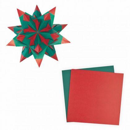 Bascetta-Stern 20x20 cm 30 Blatt rot grün 75 g/m²