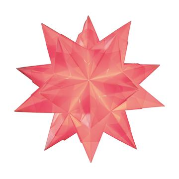 Bascetta-Stern rosa 15 x 15 cm, 32 Blatt 115g/m²