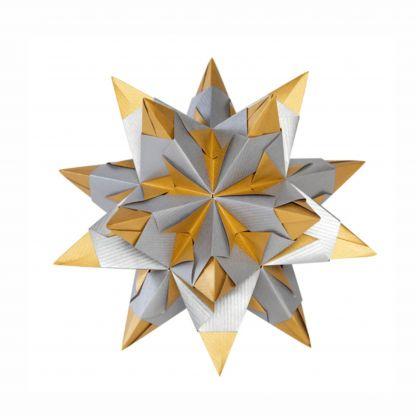 Creleo - Bascetta Stern Bastelset silber / gold 75g/m² 15x15cm 32 Blatt