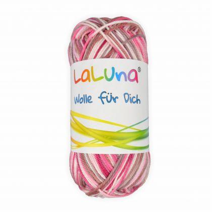 Basic Wolle bunt mix rosa 100% Baumwolle 50g - 125m, Strick und Häkelgarn der Marke LaLuna®