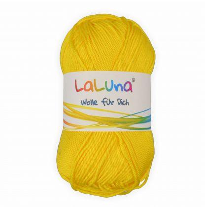 Basic Wolle gelb 100% Baumwolle 50g - 125m, Strick und Häkelgarn der Marke LaLuna®
