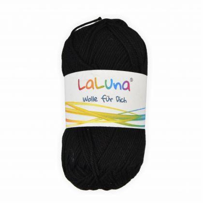 Basic Wolle schwarz 100% Baumwolle 50g - 125m, Strick und Häkelgarn der Marke LaLuna®