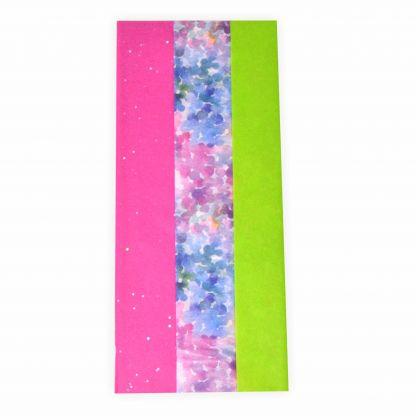 Seidenpapier - Blumenseiden Mix PINK WASSERFEST, 6 Bogen, 50x75cm, in 3 Designs sortiert