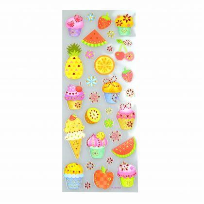 Brilliant-Sticker Sweets ca. 10x23cm tolle Motive zum Basteln, sehr brillante Aufkleber