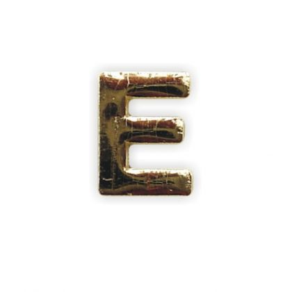 Wachsbuchstabe E gold 8 mm