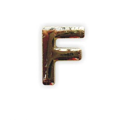 Wachsbuchstabe F gold 8 mm