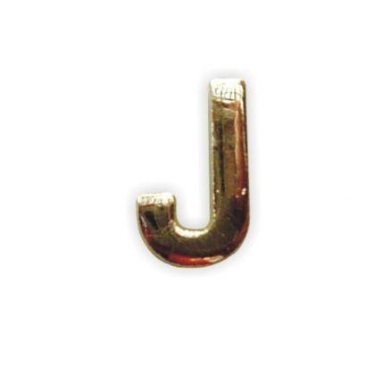 Wachsbuchstabe J gold 8 mm