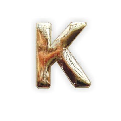 Wachsbuchstabe K gold 8 mm