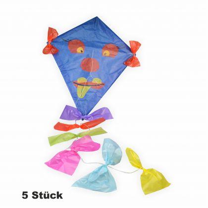 Drachen Bastelset 5 Stück inkl. Zubehör blau zum bemalen