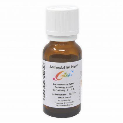 Creleo Seifen Duftöl Hanf für Seifen 20 ml hochkonzentriert zum herstellen von Seifen aller Art