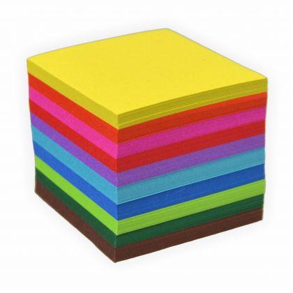 Faltblätter 70g/m², 20x20cm 500 Blatt, farbig sortiert hochwertiges Faltpapier für Origami und kreative Bastelprojekte