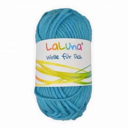 Filz Wolle eisblau 100 % Schurwolle 50g - 50 Meter, Wolle zum Stricken und Filzen Marke: LaLuna®