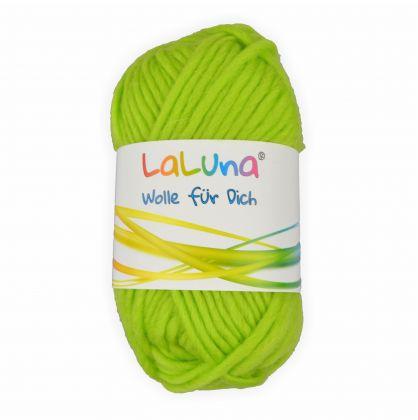 Filz Wolle maigrün 100 % Schurwolle 50g - 50 Meter, Wolle zum Stricken und Filzen Marke: LaLuna®