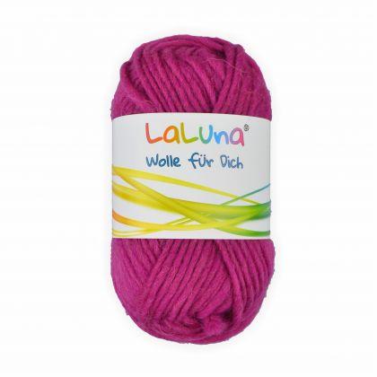 Filz Wolle pink 100 % Schurwolle 50g - 50 Meter, Wolle zum Stricken und Filzen Marke: LaLuna®