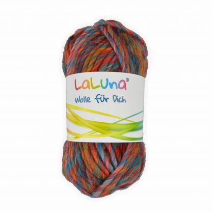 Filzwolle mixed colors orange, türkis 50 g - 50 Meter 100 % Schurwolle , Wolle zum Stricken und Filzen