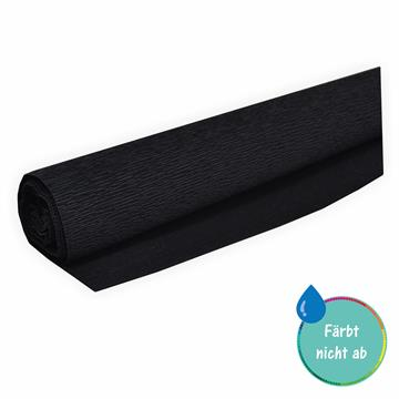 Floristen Krepppapier schwarz 50 x 250 cm ca. 128 g/m² färbt nicht ab bei Kontakt mit Wasser - bleicht nicht aus bei Sonne