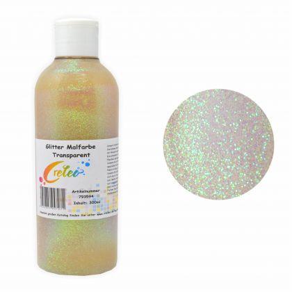 Glitter Malfarbe transparent 300 ml