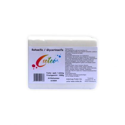 Glycerinseife Opak 1 kg Gieß Seife / Rohseife zum Seifen gießen