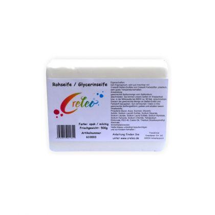 Glycerinseife Opak 500g Gieß Seife / Rohseife zum Seifen gießen