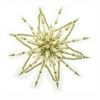 Perlensterne in 3D Gold Cream gold Bastelset