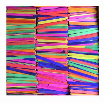 Holzstäbchen Set bunte Farben Großpackung 2500 Stück