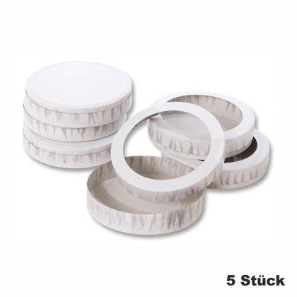 Käseschachteln 5 Stück zum Basteln von Sankt Martin Laternen Durchmesser: 15,3 cm