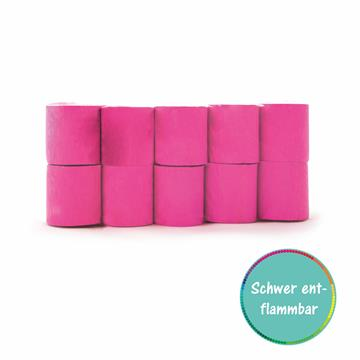 Kreppbänder pink 5cm x 10m 10 Rollen schwer entflammbar