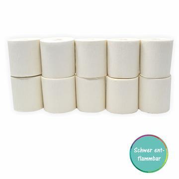 Kreppbänder weiß 5cm x 10m 10 Rollen schwer entflammbar
