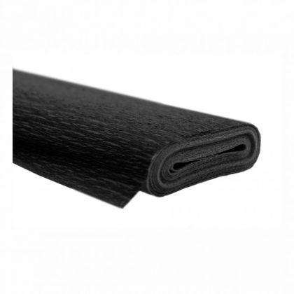 Krepppapier schwarz 50x250 cm Rolle, wasserfest super starke Qualität 60g/m²