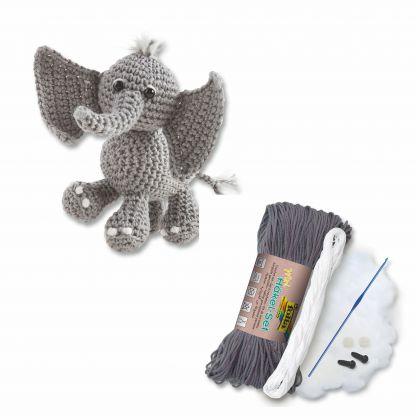 Mini-Häkelset Elefant