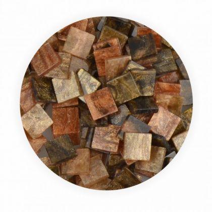 Mosaiksteine 10x10mm Glitter Mix braun 190 Stück 45 g