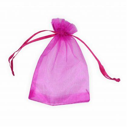 Organzabeutel 12 x 17 cm pink 6 Stück Premium Qualität Organzasäckchen