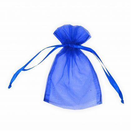 Organzabeutel 12 x 17 cm royalblau 6 Stück Premium Qualität Organzasäckchen