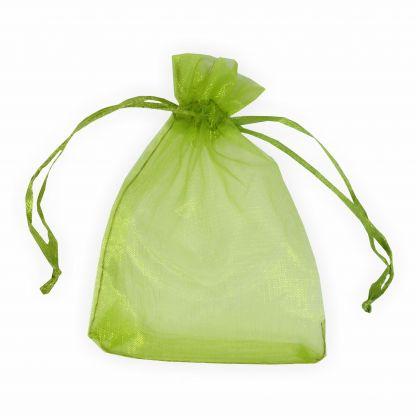 Organzabeutel 9 x 12 cm grün 6 Stück Premium Qualität Organzasäckchen